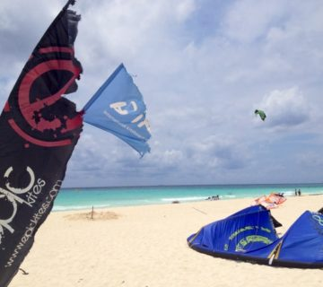 , Windy season with PDC Kiteboarding, Playa Del Carmen Kiteboarding and Water Sports Center, IKO kitesurfing lessons and shop with premium gear
